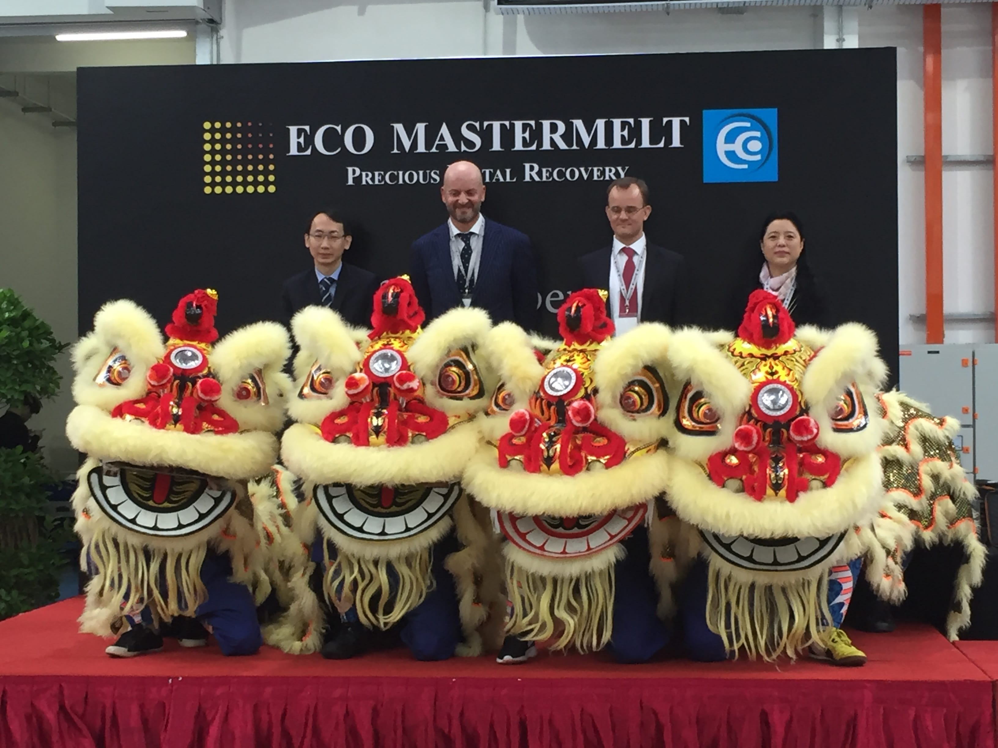 'Lion' dancers perform at the opening ceremony of ECO Mastermelt's new Singapore plant!