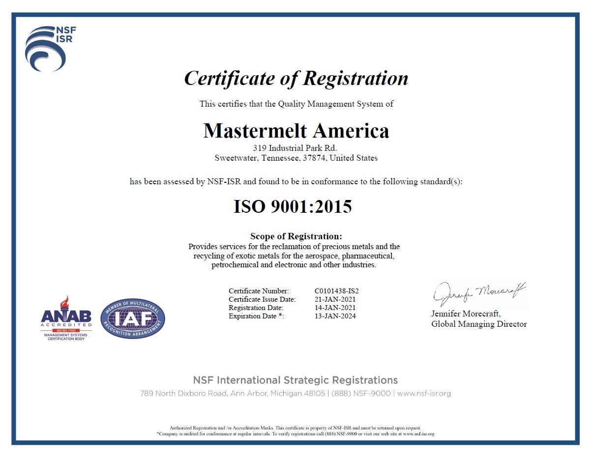 America – ISO 9001