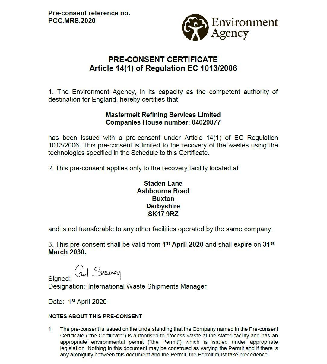EWC – EWC Pre Consent List